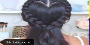 تسريحات شعر طويل بسيطة