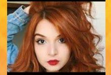لون الشعر النحاسي الأشقر